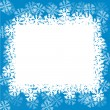 Royalty-Free Stock Vector Image: Blue background with snowflakes