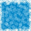 Blue background with snowflakes — Stock Vector #7651113
