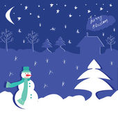 Winter design with snowman — Cтоковый вектор