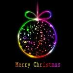 Merry christmas gratulationskort — Stockvektor