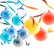 Stock Photo: Bright christmas decorations