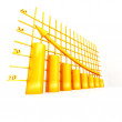 Stock Photo: Yellow columns of diagram