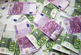 Chaotically lyings euro banknotes — Stock Photo
