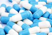 White blue tablets — Stock Photo