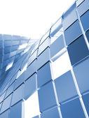 Blue metallic cubes — Stock Photo