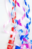 Varicolored decorative ribbons — Stock Photo