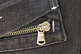Pocket with zipper — Stock Photo