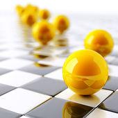 Helder gele ballen — Stockfoto