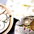 Stock Photo: Old metal mechanical clock