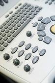 Keyboard modern medical ultrasound — Stock Photo