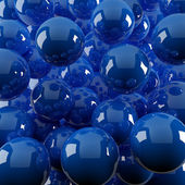 Dark blue spheres — Stock Photo