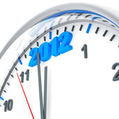 Round clock with — Stock Photo