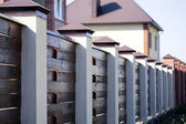 Fence and the modern house — Stock Photo