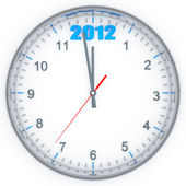 Round clock with arrows — Stock Photo