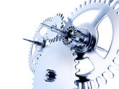 Linked metal gears — Stock Photo