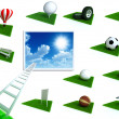 Stock Photo: Set of bright icons