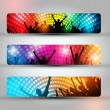 Royalty-Free Stock Vectorielle: EPS10 Set of Three Headers