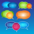 EPS10 Colorful Speech Bubble Vector Design — Stock Vector