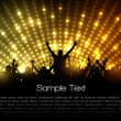 EPS10 Party Vector Background - Dancing Young — Vector de stock