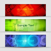 EPS10 Set of Three Header Vector Design — Stock Vector