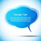 EPS10 Colorful Speech Bubble Vector Design — Stock Vector