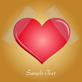 Diseño eps10 valentin día corazón — Vector de stock