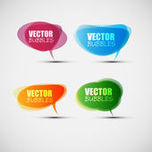 EPS10 Colorful Bubbles for Speech Vector Design — ストックベクタ