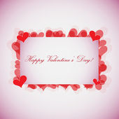 EPS10 Valentines Day Card - Vector Design — Stock Vector