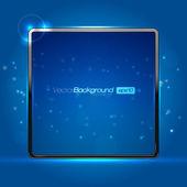 EPS10 Blue Abstract Screen Vector Design Background — Stock Vector