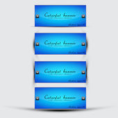 Abstract blue banners set vector — Stock vektor