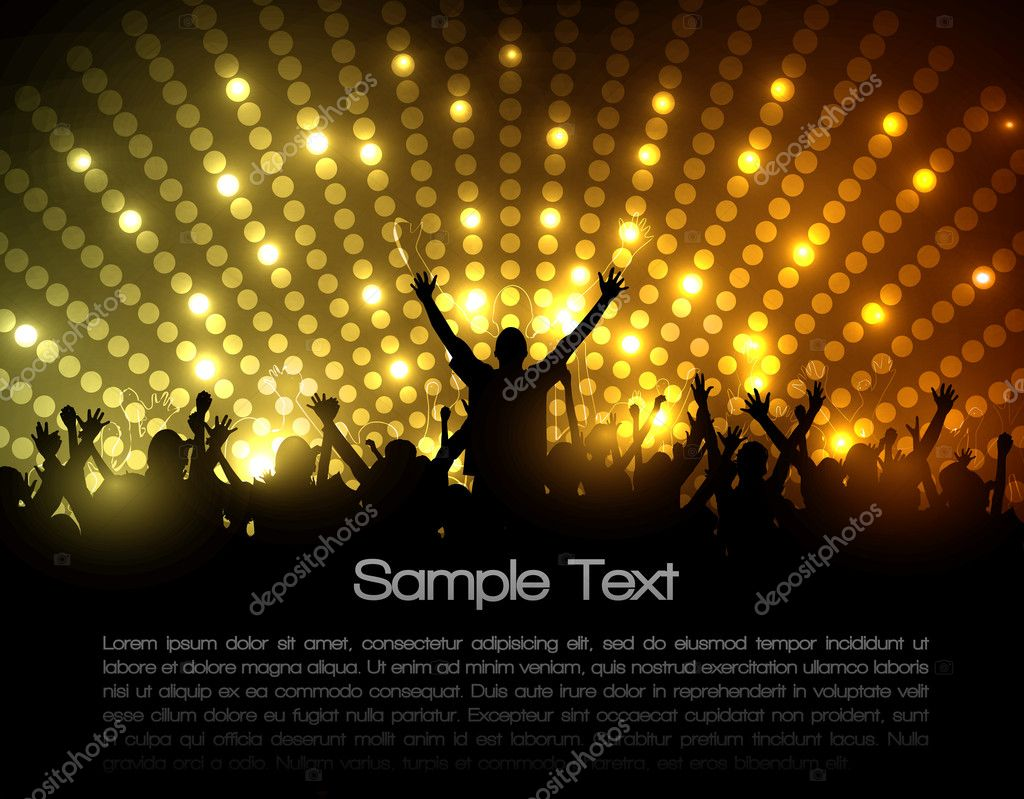 EPS10 Party Vector Background - Dancing Young — Stock Vector #7885642