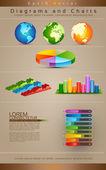 Coleção de diagramas — Vetorial Stock