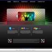 EPS10 Music Website Template - Vector Design — Stock Vector