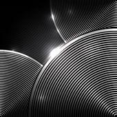 Eps10 fundo de vetor abstrato círculo preto e branco — Vetorial Stock