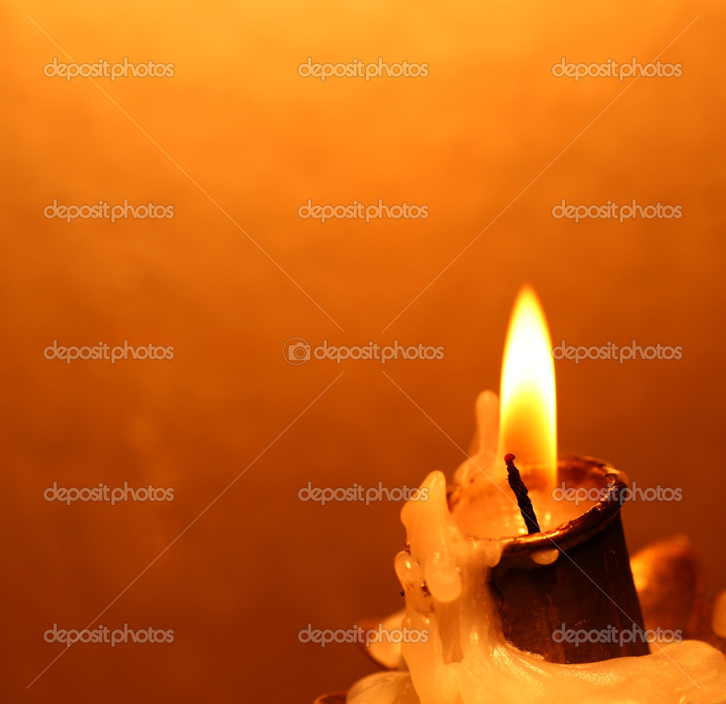 Close up of Candle with red background — Stock Photo #7104436