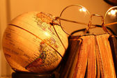 Old globe with Book — Stock Photo