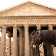 Horse carriage and Pantheon — Stock Photo #6937269