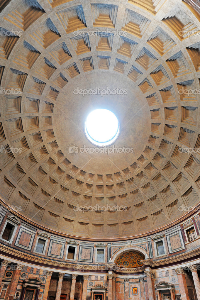 Interior of the pantheon in rome italy, built in 126 ad — Stock Photo #6937296