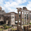 Roman Forum in Rome, Italy - Stock Photo