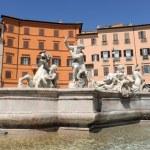 Fountain of Neptune, piazza Navona, Rome — Stock Photo