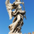 Bernini angel in Rome - Stock Photo