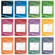 Stock Photo: Colorful calendar 2012