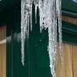 Melting icicles — Foto Stock