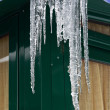 Melting icicles — Stockfoto