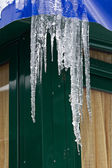Melting icicles — Stock Photo