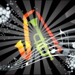 Royalty-Free Stock Vector Image: Colorful Musical theme vector