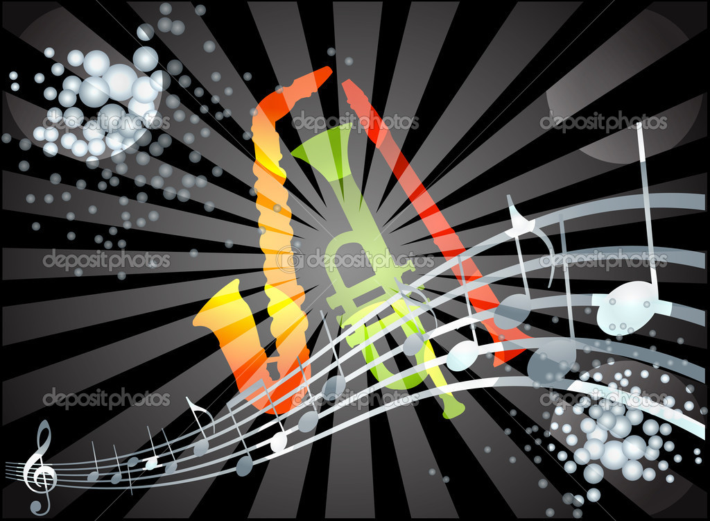 Colorful Musical theme vector — Stock Vector #6854561