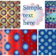 Seamless patterns set, vector — Stock Vector