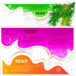 Christmas bubbles for speech — Stock Vector