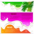 Christmas bubbles for speech — Stock Vector #6875296
